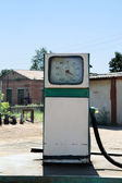 Old filling station petrol — Stock Photo