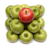 Domination concepts with apples — Stock Photo