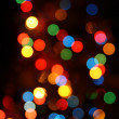 Defocused color lights - Stock Photo