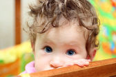 Touching baby close-up — Stock Photo