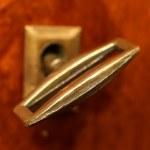 Retro key in keyhole — Stock Photo