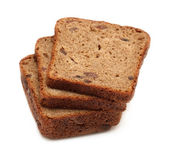 Dark brown rye sliced bread — Stock Photo