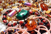 Jewelry necklace and gems — Photo