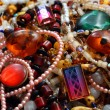 Stock Photo: Jewelry necklace and gems
