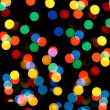 Defocused colored circular lights — Stock Photo