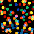 Defocused colored circular lights - Stock Photo