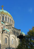 Naval cathedral in Kronstad — Stock Photo