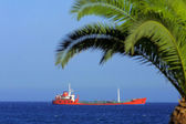 Ship in Mediterranean sea — Stock Photo
