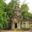 The ancient building in Angkor - Stock Photo