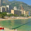 Sandy beach in Monte Carlo, Monaco — Stock Photo