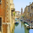 Stock Photo: Channel with boats in Venice