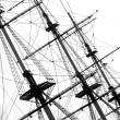 Masts of cruise yacht — Stock Photo