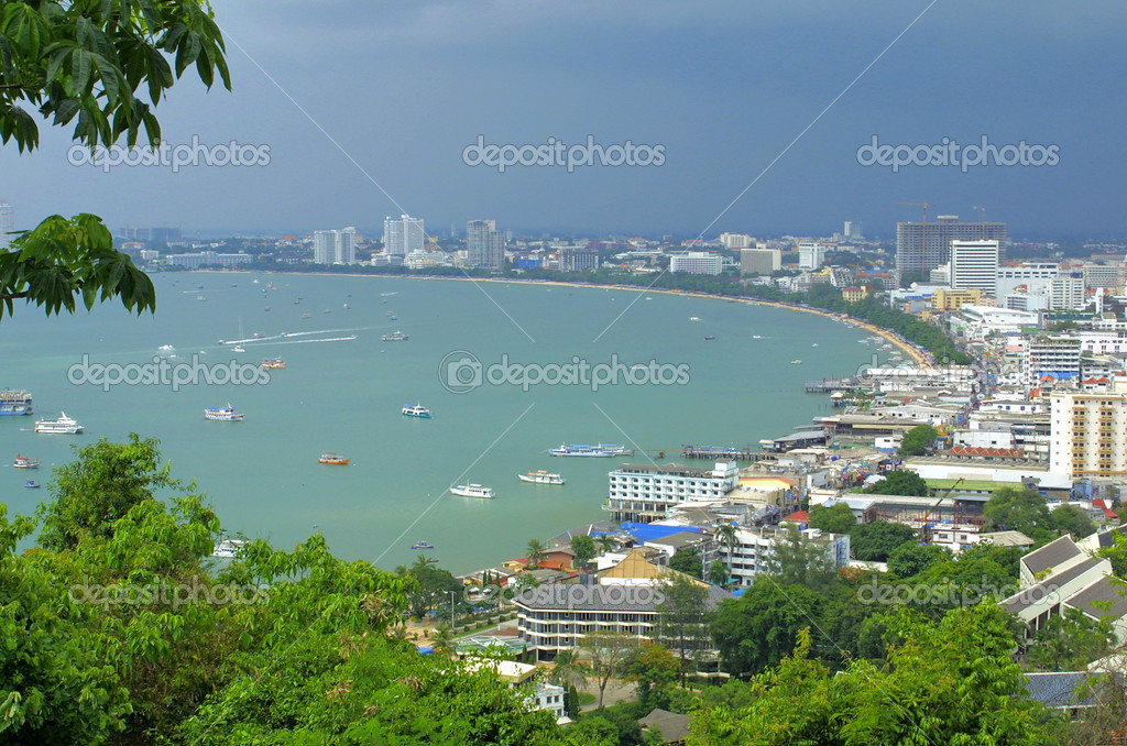 Pattaya city from observation point on the hill. Thailand — Stock Photo #1107060