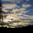 Stock Photo: Power transmission line