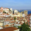 Bird view panorama of Lisbon — Stock Photo