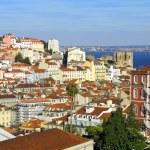 Bird view panorama of Lisbon — Stock Photo #1123535