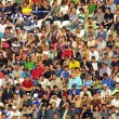 Seat on a stadium tribune - Stock Photo