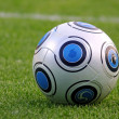 Close-up soccer ball — Stock fotografie