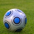 Close-up soccer ball — Stockfoto