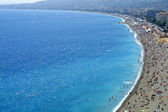 Pebble beach in Nice — Stock Photo