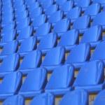 Blue empty stadium seats — Stock Photo #1138477