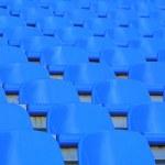 Blue empty stadium seats — Stock Photo