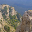Cross upon mountain, Crimea - Stock Photo