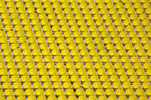 Yellow empty stadium seats — Foto Stock