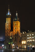 St. Mary's Basilica in Krakow — Stock Photo