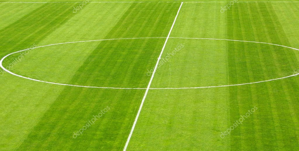 Football soccer empty green field — Stock fotografie #1138440