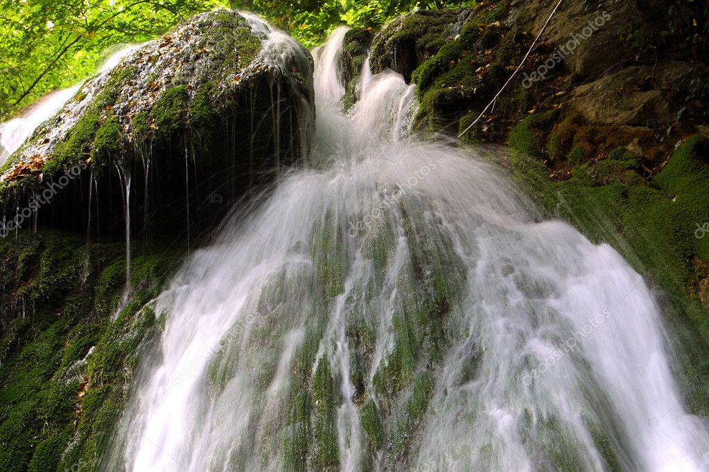 Waterfall in forest, long exposure — Stock Photo #1138504