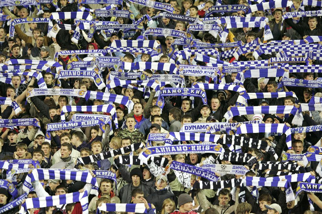 Dynamo Kyiv soccer team supporters — Stock Photo #1138759