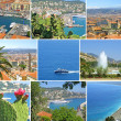 Stock Photo: Collage made of Nice-city photos