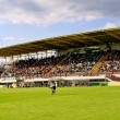 Panoramic view of soccer stadium - Stock Photo