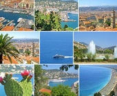 Collage made of Nice-city photos — Stock Photo