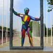 Colourful sculpture - Stock Photo
