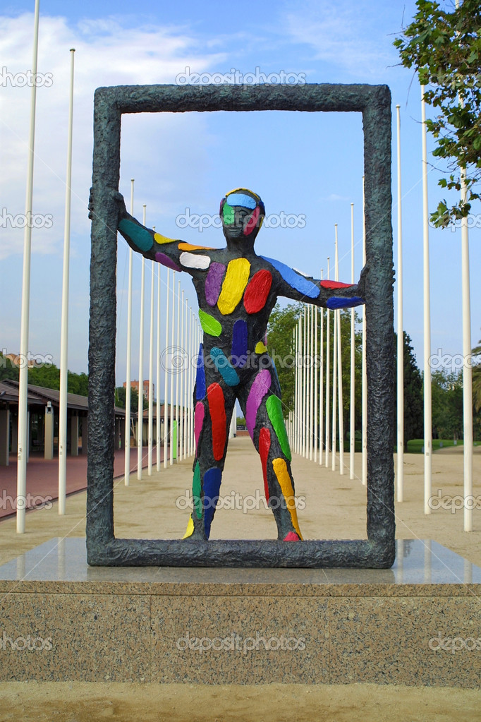 Colourful sculpture in Barcelona, Spain — Stock Photo #1199375