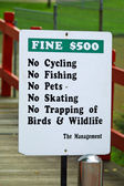 """""""No cycling"""" sign in Singapore — Stock Photo"""