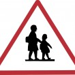Pedestrian crossing sign on Cyprus — Stock Vector #1275216