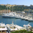Luxury yachts in sea port of Monte-Carlo — Stock Photo