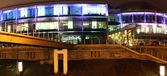 Illuminated building at night — Stock Photo