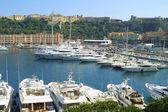 Yachts de luxe dans le port de mer de monte-carlo — Photo