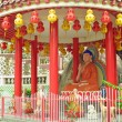 Statue of Buddha in Chinese Temple - Stock Photo