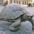 Bronze turtle at Upper Square in Olomouc - Stok fotoğraf