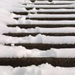 Stairs covered with snow — Stock Photo