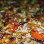 macro de pizza — Foto Stock
