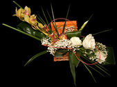 Ikebana with clipping path — Stock Photo