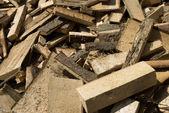 Firewood in haos — Stock Photo