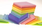 Verschiedene Farbpapier — Stockfoto