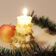 Christmas candle — Stock Photo #1277087